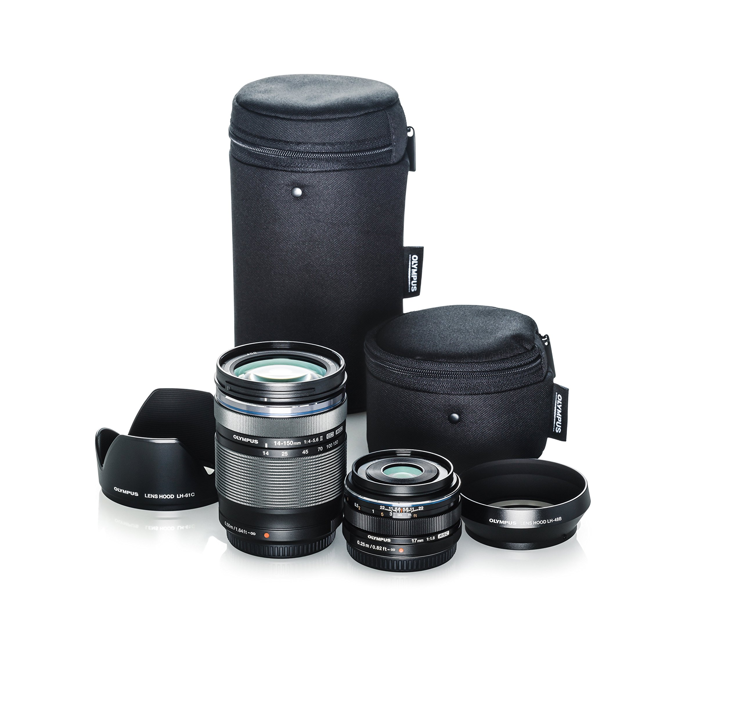 Olympus Travel Lens Kit (M.Zuiko 14-150mm f4.0-5.6 II and M.Zuiko 17mm f1.8 black lenses) by Olympus