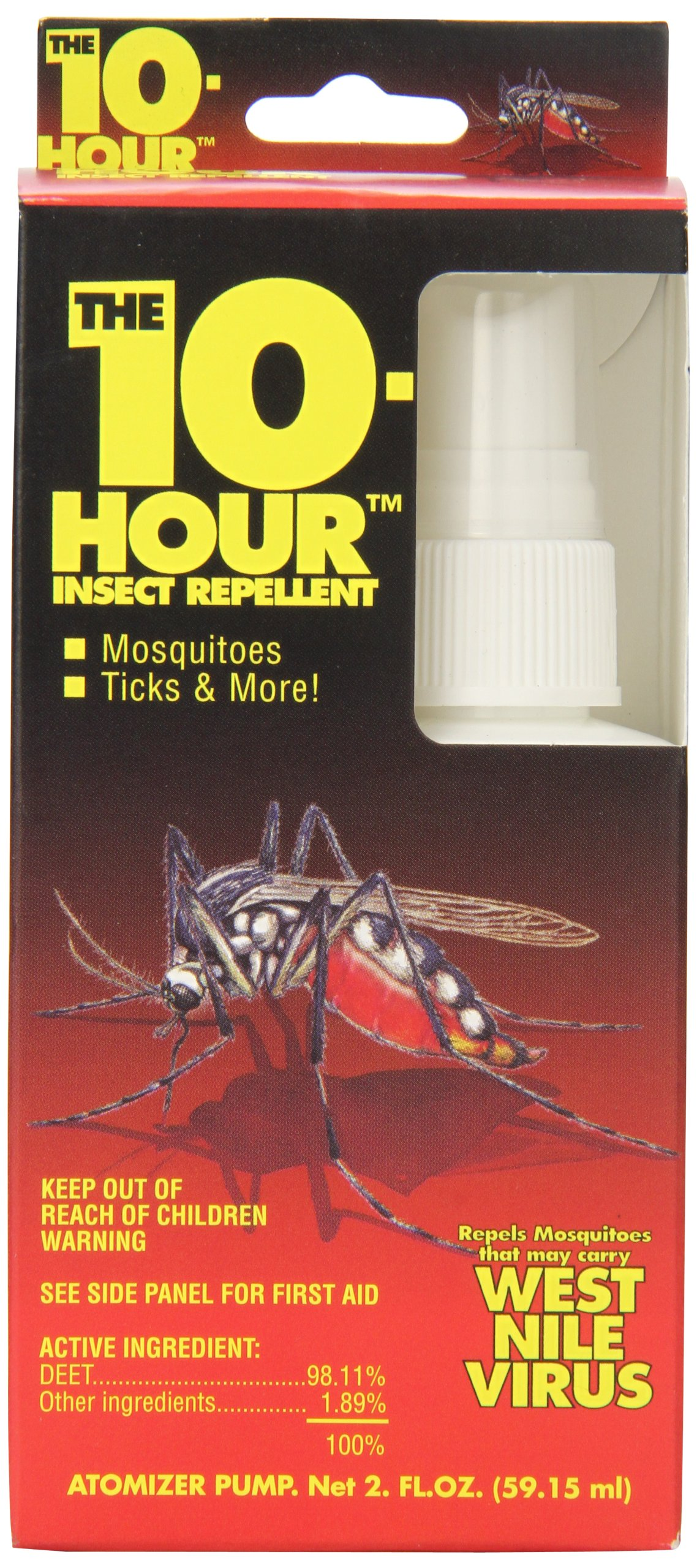 Grabber Outdoors 10 Hour 100% Deet Insect Repellent Spray, 2 Ounce by GRABBER OUTDOORS
