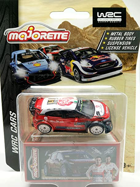 Fonza Citroen C3 WRC 2018 no.11 Red - 1/64 Scale Diecast Car - Scale 1:61 / 3 inches Car - MJ Ref 245N - Wheels Rubber Tires 10S White - in Package with Box Style