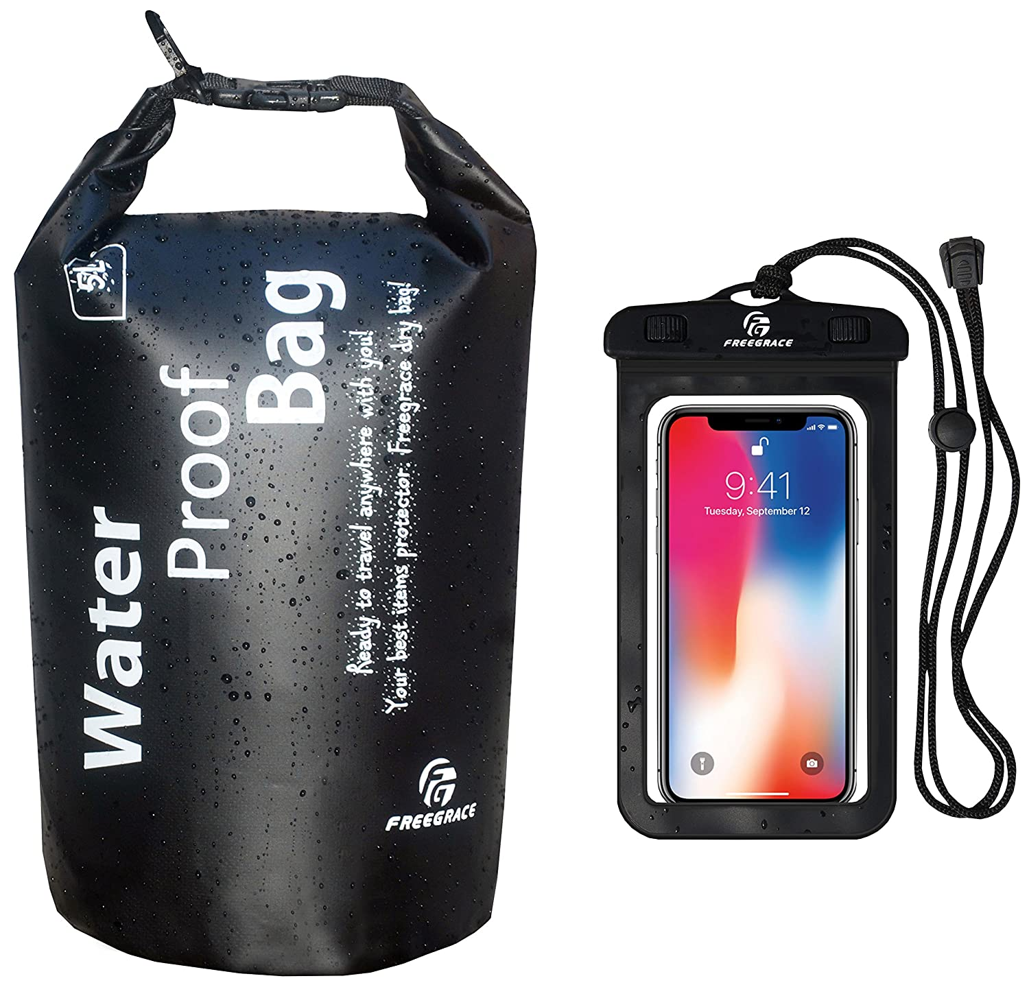 12c5b03cc0 Freegrace Waterproof Dry Bag - Lightweight Dry Sack with Seals and  Waterproof Case - Float on Water - Keeps Gear Dry for Kayaking