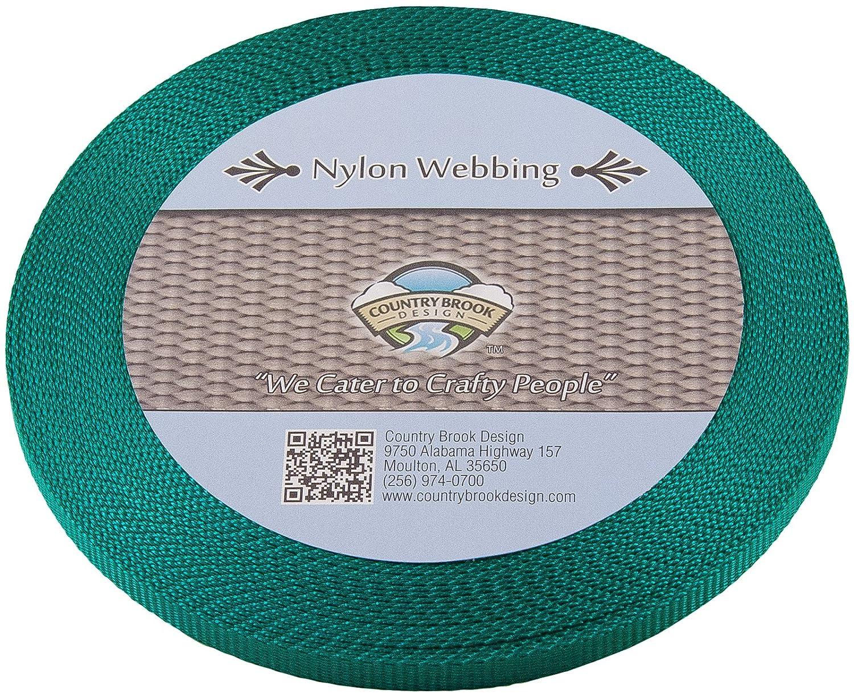 WN-COY-3.8-20 3//8 Inch Heavy Nylon Webbing Country Brook Design 20 Yards, Coyote Tan