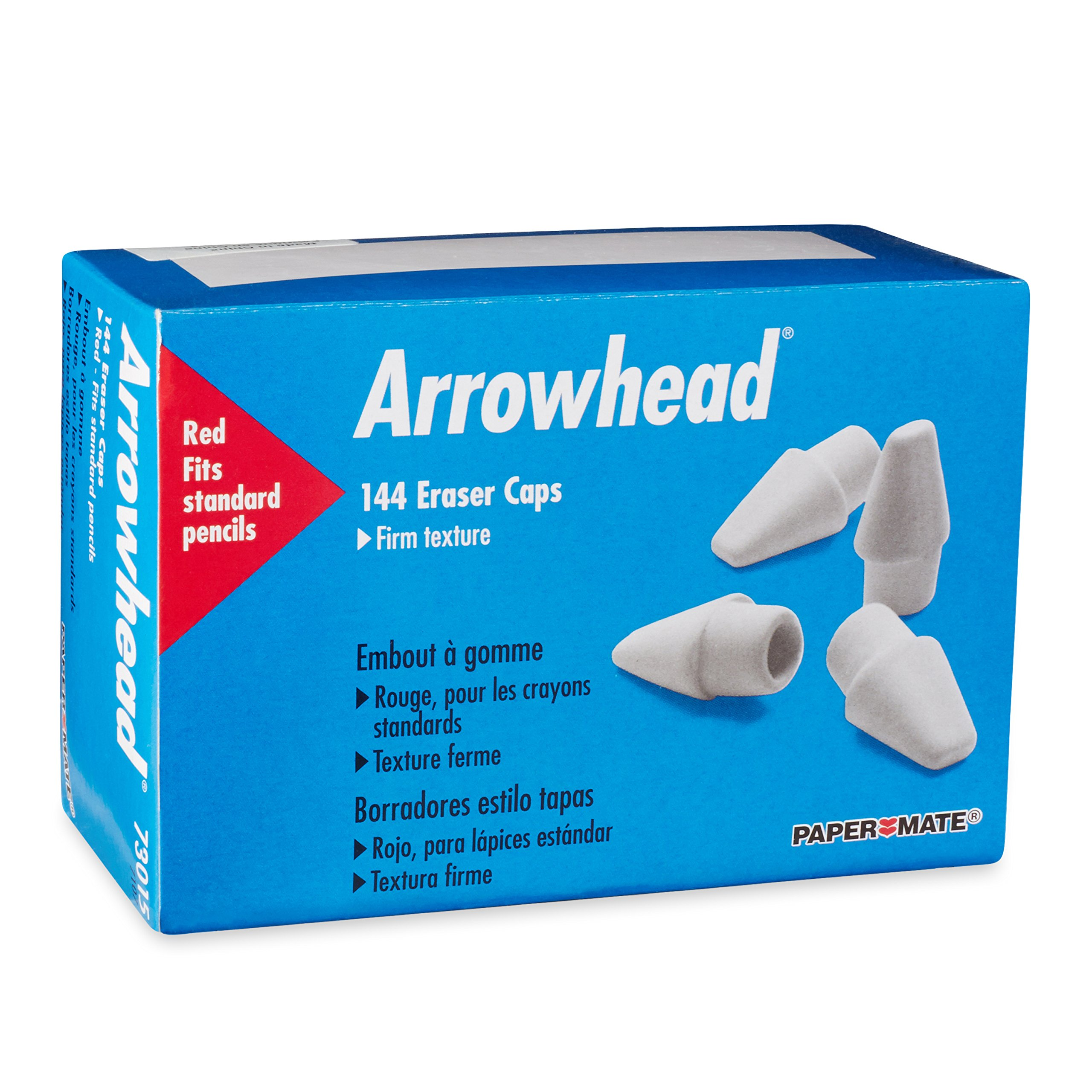 Paper Mate Arrowhead Pink Pearl Cap Erasers, 144 Count by Paper Mate (Image #3)