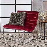 Felicia Parisian Modern Ruby Velvet Sofa Chair