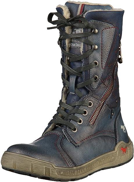 Mustang 1290-602 - Botines de caño bajo de Sintético Mujer, Color Azul, Talla 41 EU: Amazon.es: Zapatos y complementos