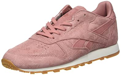 2c1db3152c8 Reebok Women s Classic Leather Clean Exotics Trainers  Amazon.co.uk ...