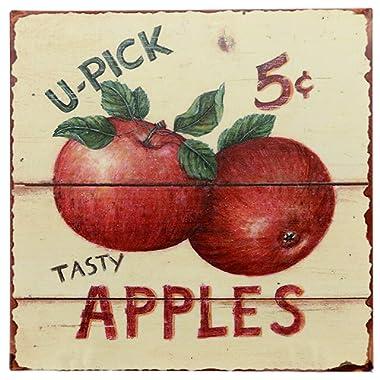 Barnyard Designs Tasty Apples 5 Cents Retro Vintage Tin Bar Sign Country Home Decor 11  x 11