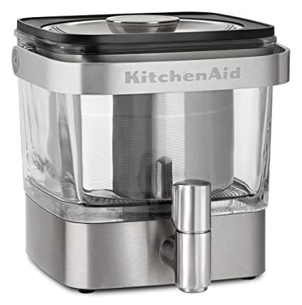 Amazon Com Kitchenaid Kcm4212sx Cold Brew Coffee Maker Brushed