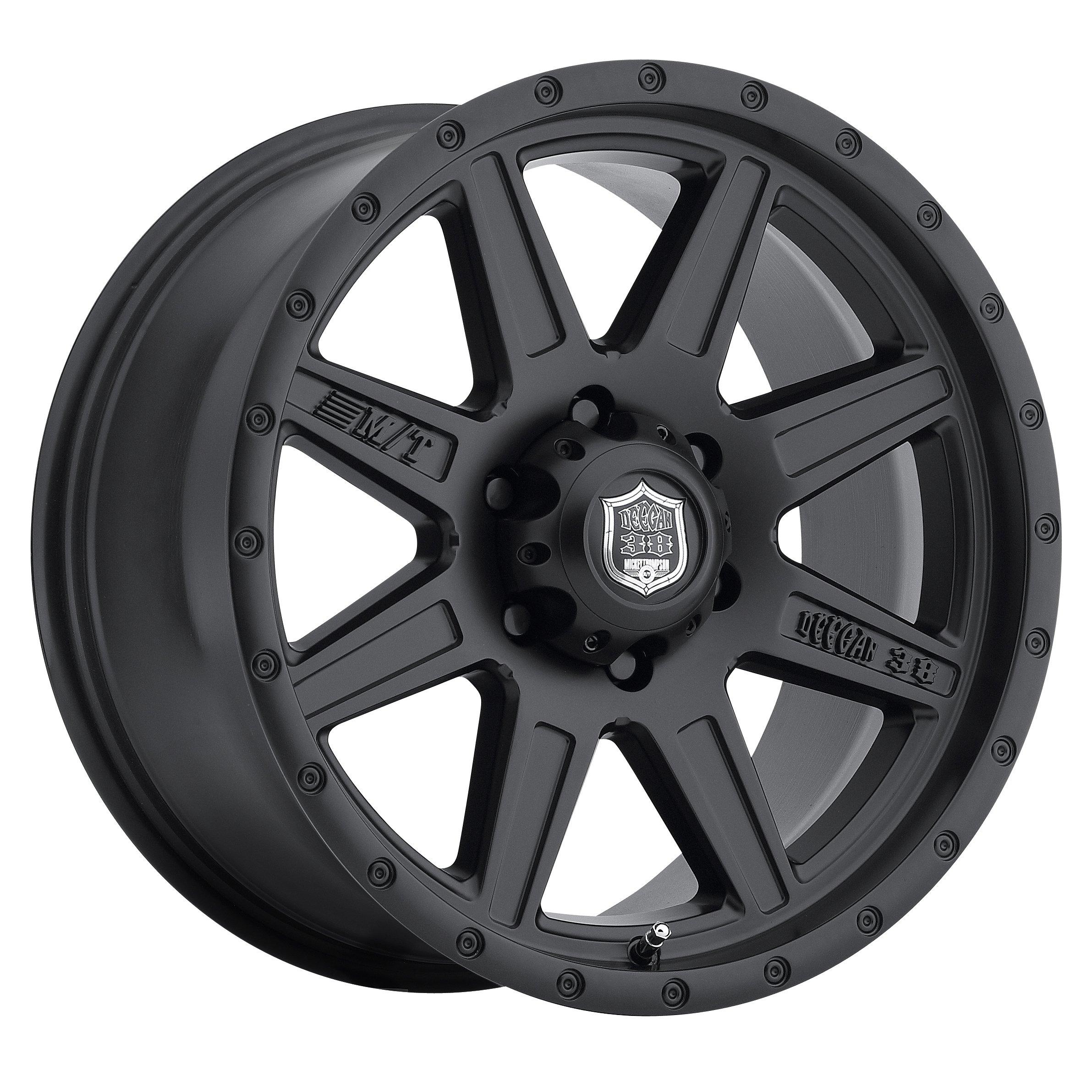 Mickey Thompson Deegan 38 PRO 2 Black Wheel with Matte Black Finish (17x9''/6x135'') 18 millimeters offset