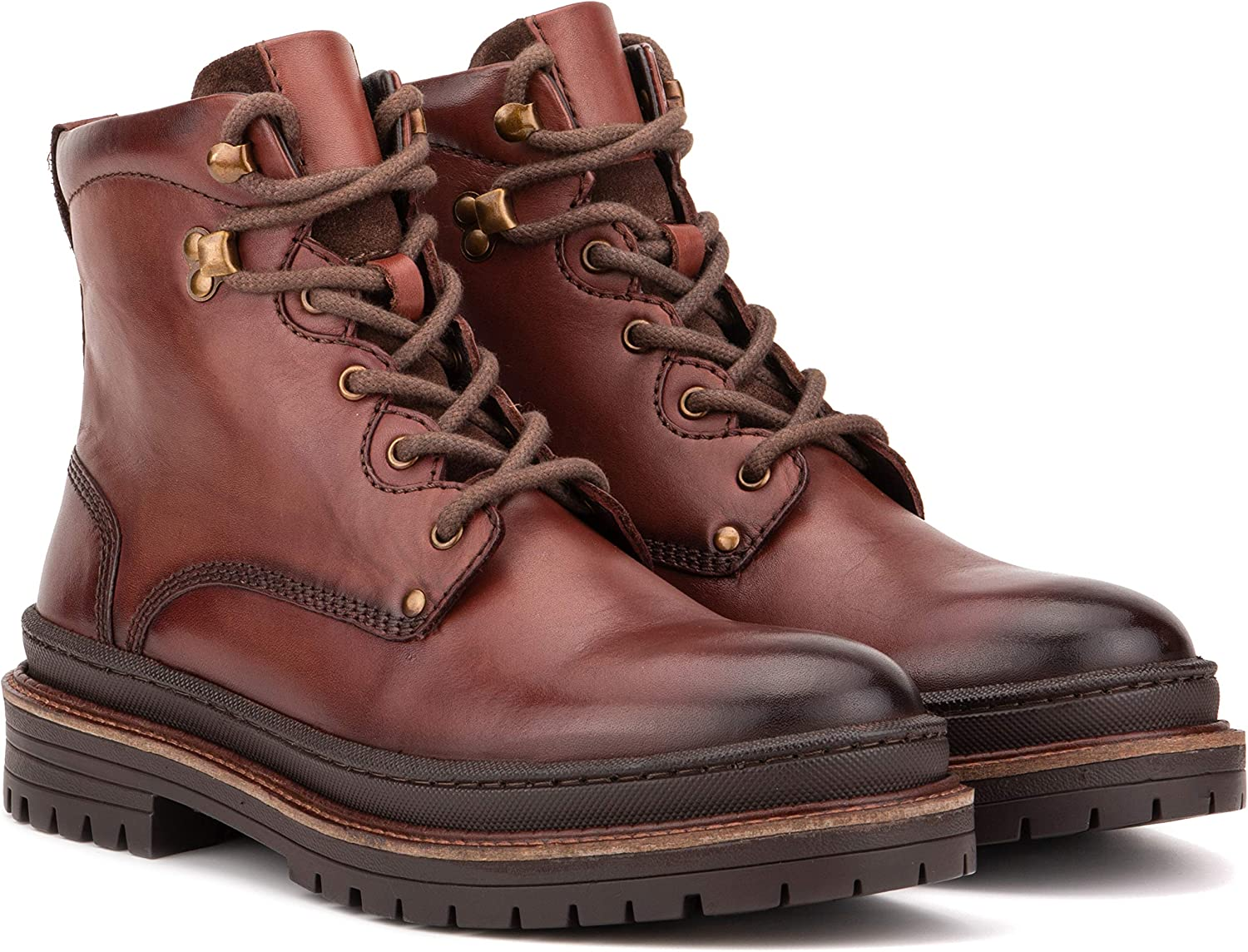 Men boots Men leather lace up boots Handmade Mens fashion Tan color ankle boot