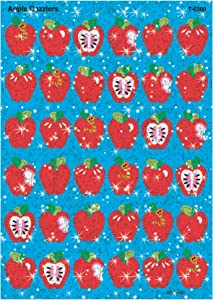 Trend Enterprises Inc. Apple Dazzlers Sparkle Stickers, 72 ct
