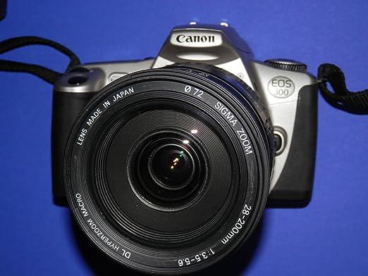 Cámara réflex CANON EOS 300 para la lente Sigma Zoom 28-200 mm 1:3 ...