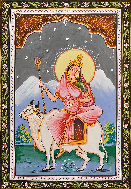Amazon.com: shailaputri navadurga (el nueve Formas de diosa Durga) – El  agua color pintura sobre Patti – Folk Art: Home & Kitchen