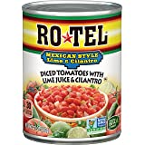 ROTEL Mexican Style Diced Tomatoes with Lime Juice and Cilantro, 10 Ounce