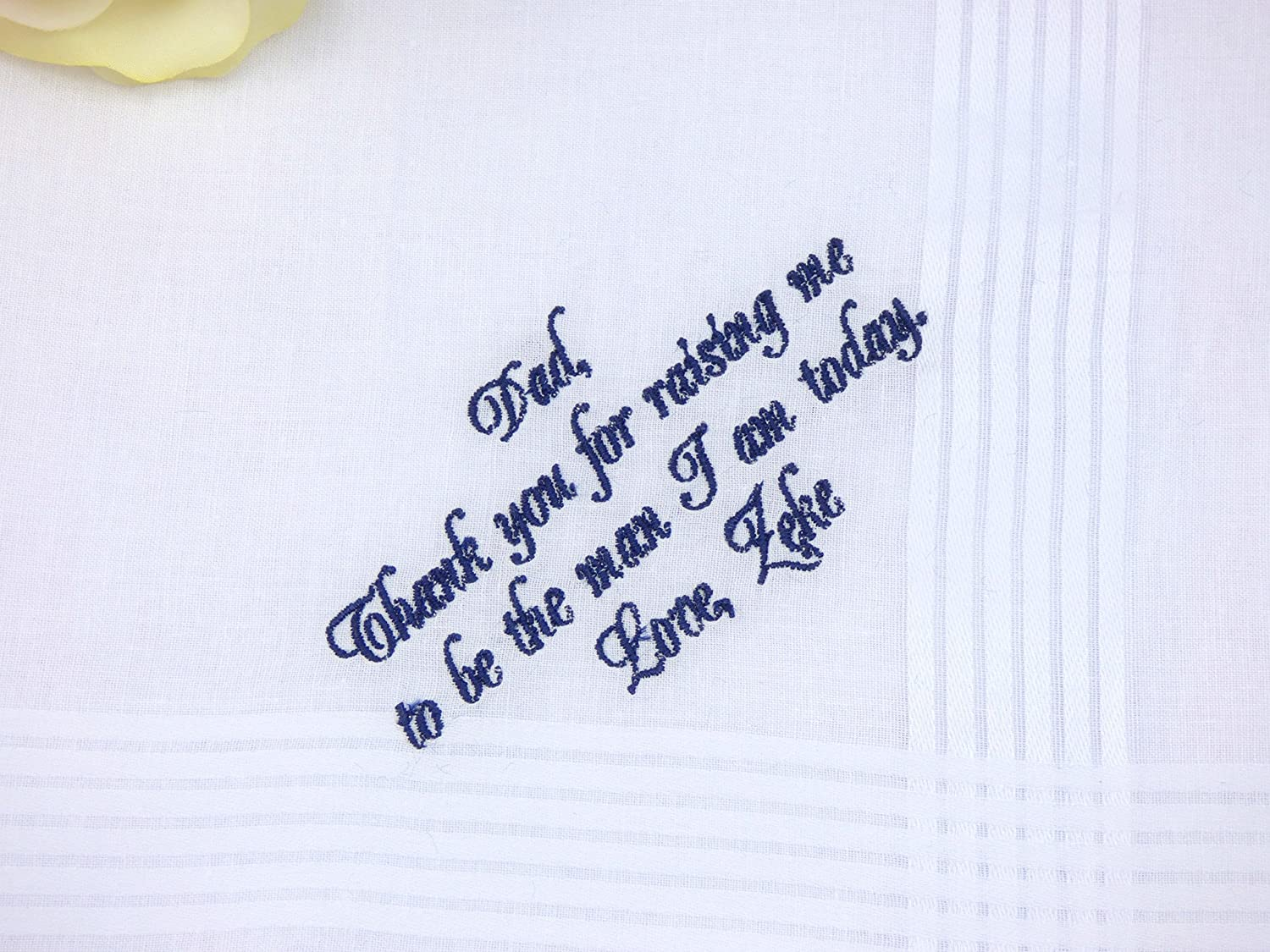 Father of the Groom Personalized Handkerchief