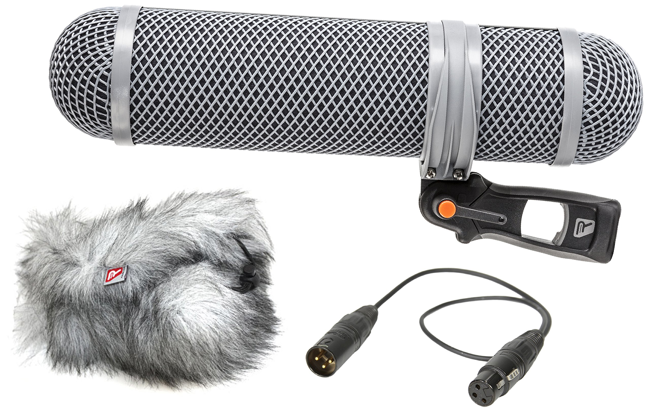 Rycote Super-Shield Kit, Medium, Includes Rear Pod, Front Pod, Windjammer, 17.71'' / 45cm XLR-3F/3M Cable by Rycote