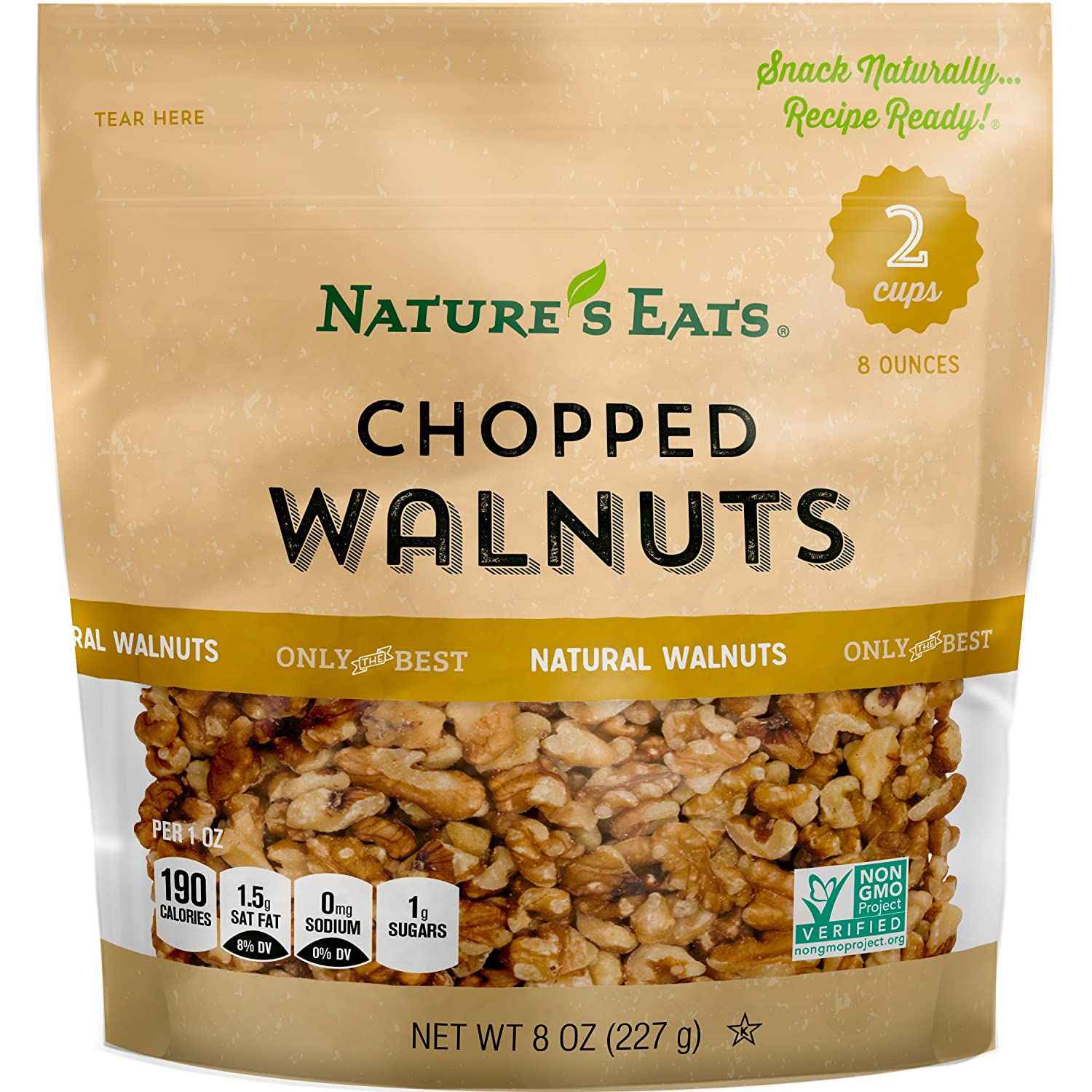 Nature's Eats Chopped Walnuts, 8 Ounce