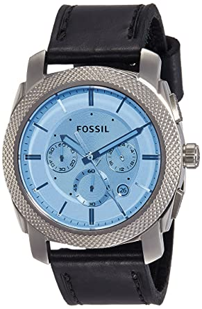 Amazon.com  Fossil Men s FS5160 Machine Chronograph Watch with Black ... 152d42277e1