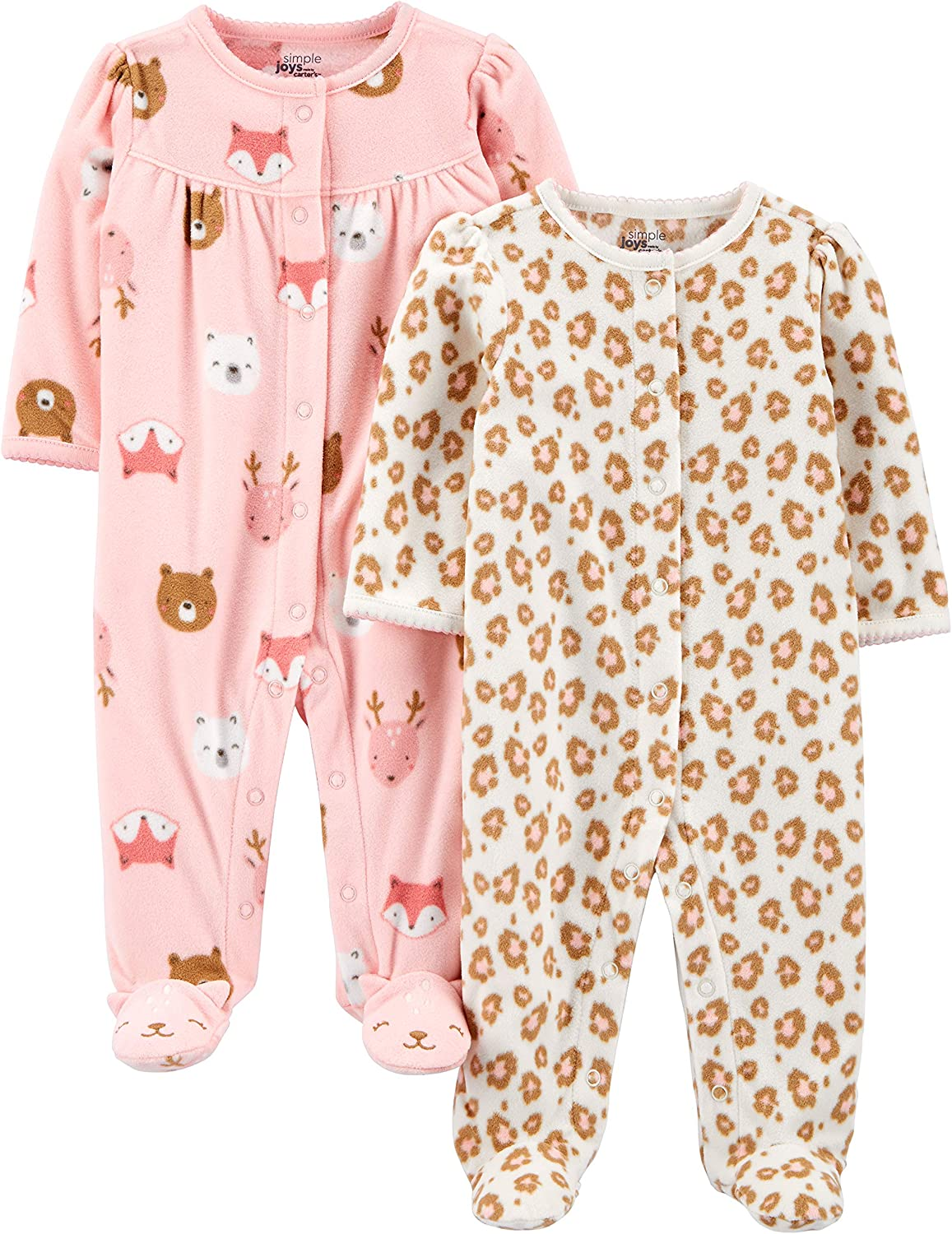 Dino//Lambs Pack of 2 Simple Joys by Carters Footie 3-6 Months
