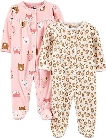 Simple Joys by Carter's Forro Polar para Dormir y Jugar Bebé-Niñas, Pack de 2