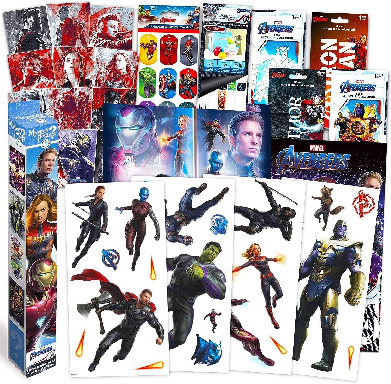RoomMates Avengers Wall Decals Bundle ~ 95+ Pc Marvel Room Decor Set Featuring Iron Man, Thor, Thanos, The Hulk, and More! (Superhero Room Decor)