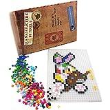 La Manufacture du Pixel Kit tapis et 900 pixels à insérer (Translucide) - Pixel Art, Loisir Créatif, Mosaïque, Fun ! - Créez à l'infini tout l'art qui vous ressemble