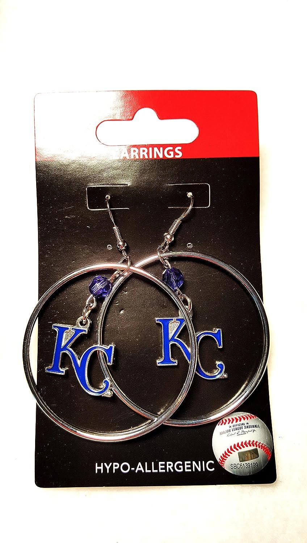 MLB Kansas City Royals Color Bead Hoop Earrings
