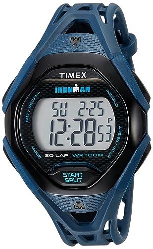 Timex De los Hombres Ironman Sleek 30 Correa de Resina Reloj: Amazon.es: Relojes