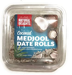 product image for Bard Valley Natural Delights Kosher Raw Coconut Date Rolls - 12 oz.