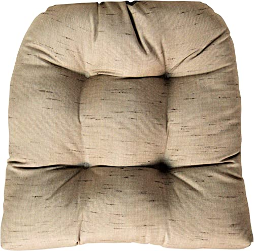 RSH DECOR Sunbrella Frequency Sand Large Wicker Chair Cushion