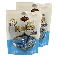 Achva Kosher Sugar Free Mini Halva Bars Snack Bag 15ct. Each Bar 0.35oz Net Wt 5.3oz (Pack of 2)