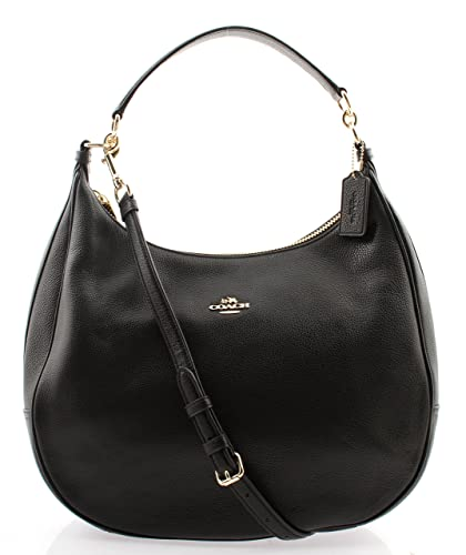Amazon.com: Coach Harley Hobo in Pebble Leather, F38259 (Black): Shoes