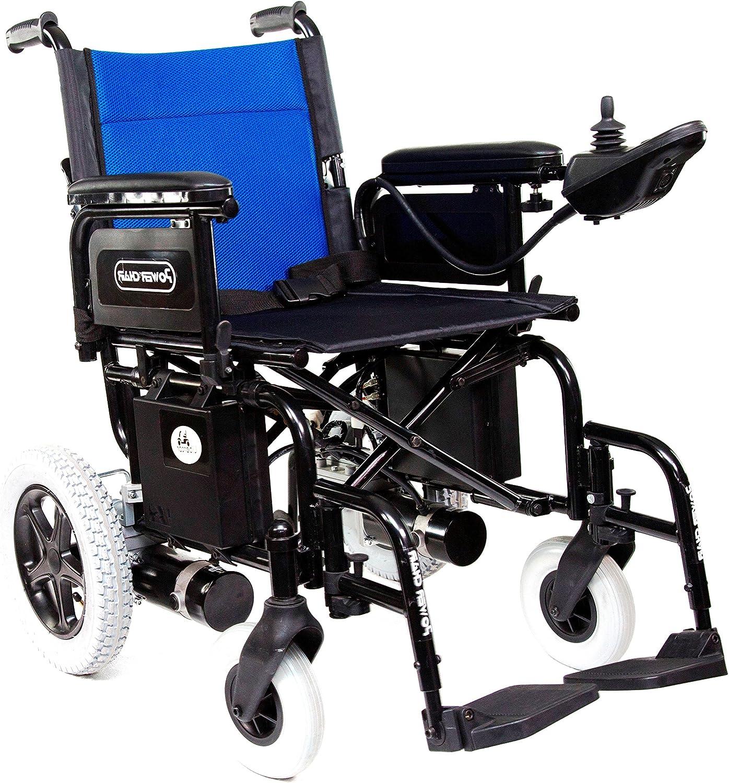 Libercar – Power Chair – Silla de Ruedas Eléctrica Plegable – Baterías De Litio – Robusta – Altas Prestaciones (Ruedas Traseras Neumáticas 33cm)