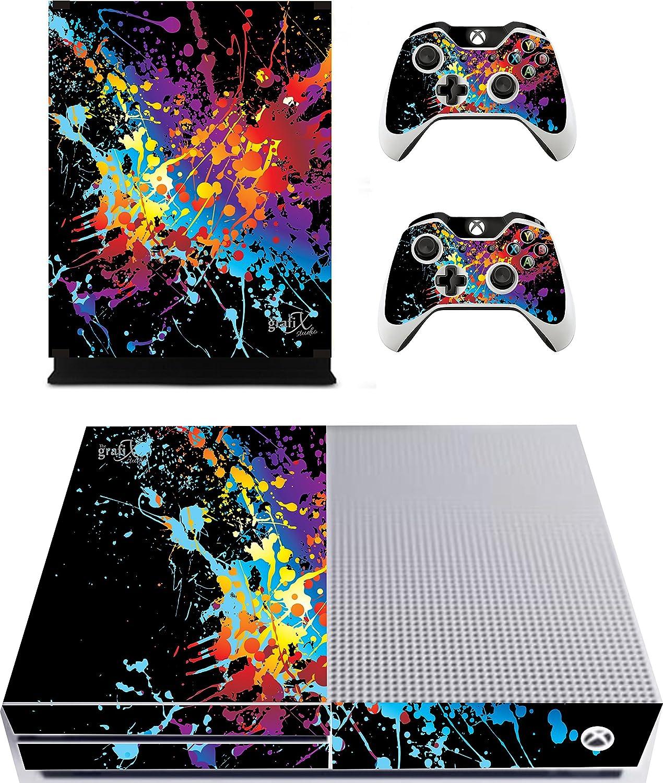 The Grafix studio Pegatina para Pintar Splat/Piel Xbox One S Consola & Mando a Distancia Adhesivos, xbs5: Amazon.es: Hogar