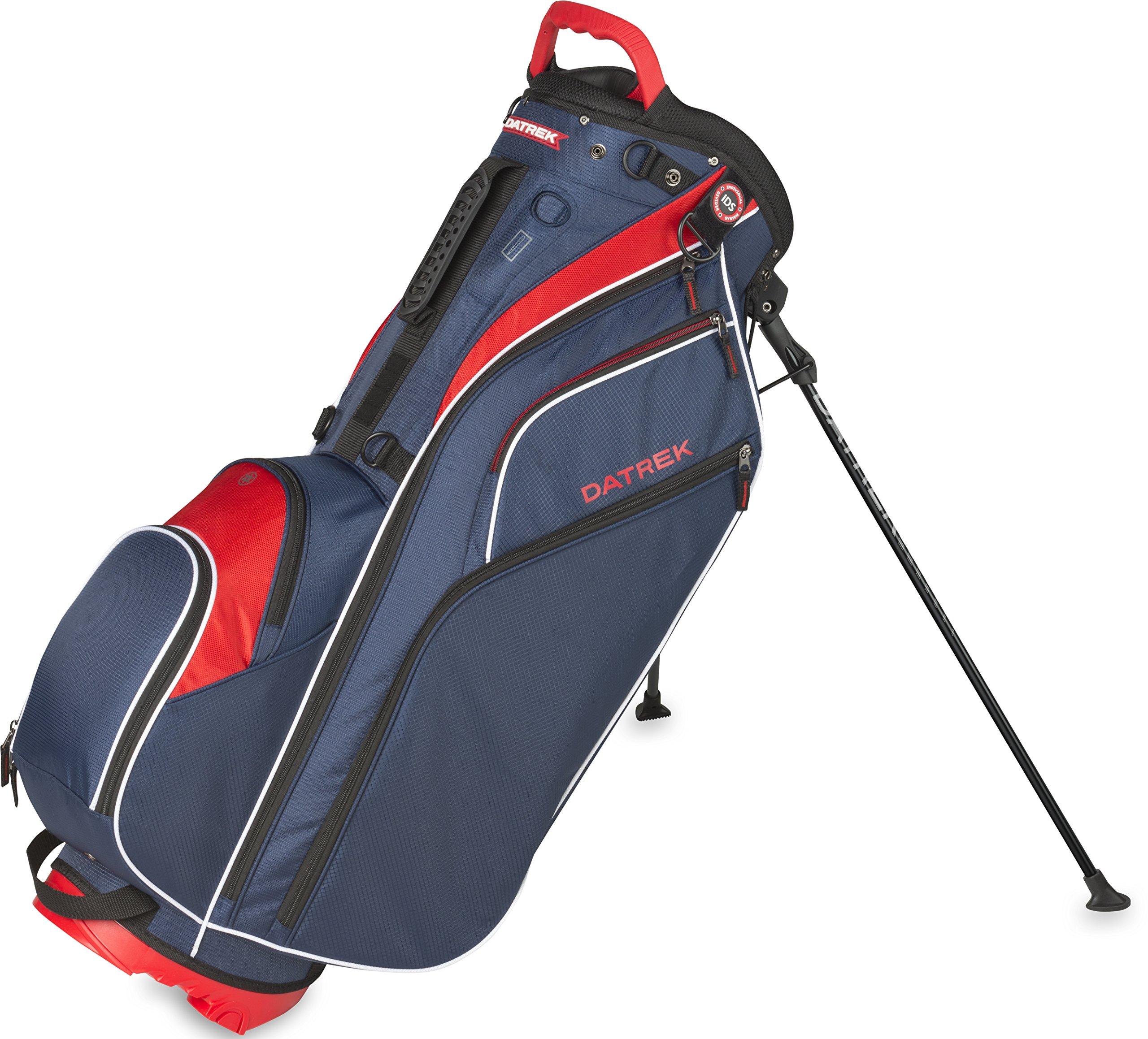 Datrek Golf Go Lite Hybrid Stand Bag (Red/White/Blue) by Datrek