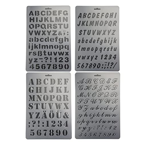 bilipala plastic number and letter stencils templates set for painting and crafts set of 4