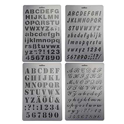 Amazon bilipala plastic number and letter stencils templates bilipala plastic number and letter stencils templates set for painting and crafts set of 4 spiritdancerdesigns Image collections