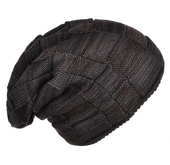 7f10de5d52aa8 Joyingtwo Winter Warm Hat Thick Soft Knit Wool Fleece Slouchy Beanie Skully  Cap for Men Women