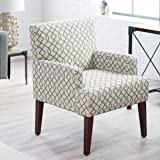 Belham Living Geo Accent Blue Gray Geometric Color Chair with Arms