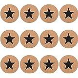 GA Homefavor Set di 12 Sottobicchieri Decorativi in Sughero Spessore 1/2 cm