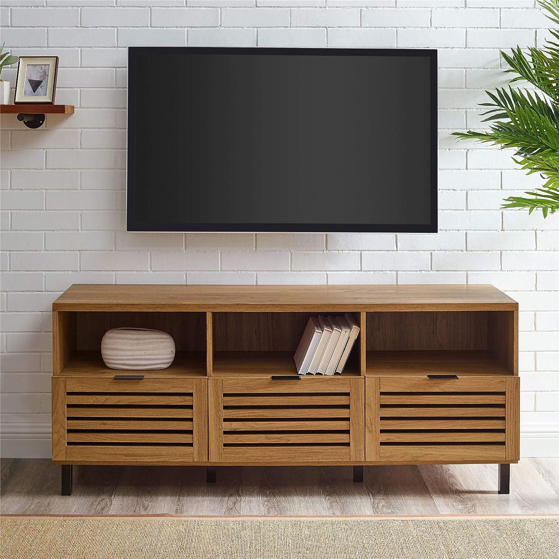 Amazon.com: Walker Edison Modern Wood Stand With Slat TV