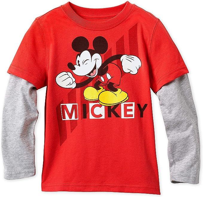 Disney Camiseta de Manga Larga para ni/ños Mickey Mouse