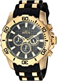 Invicta Men's 'Pro Diver' Quartz Stainless Steel and Silicone Casual Watch, Color:Two Tone (Model: 22557)