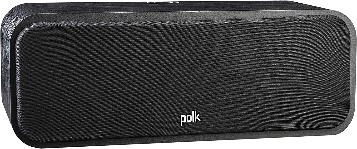 Polk Audio Signature Series S30 Center Channel Speaker (2 Drivers) | Surround Sound | Power Port Technology | Detachable Magnetic Grille,Black