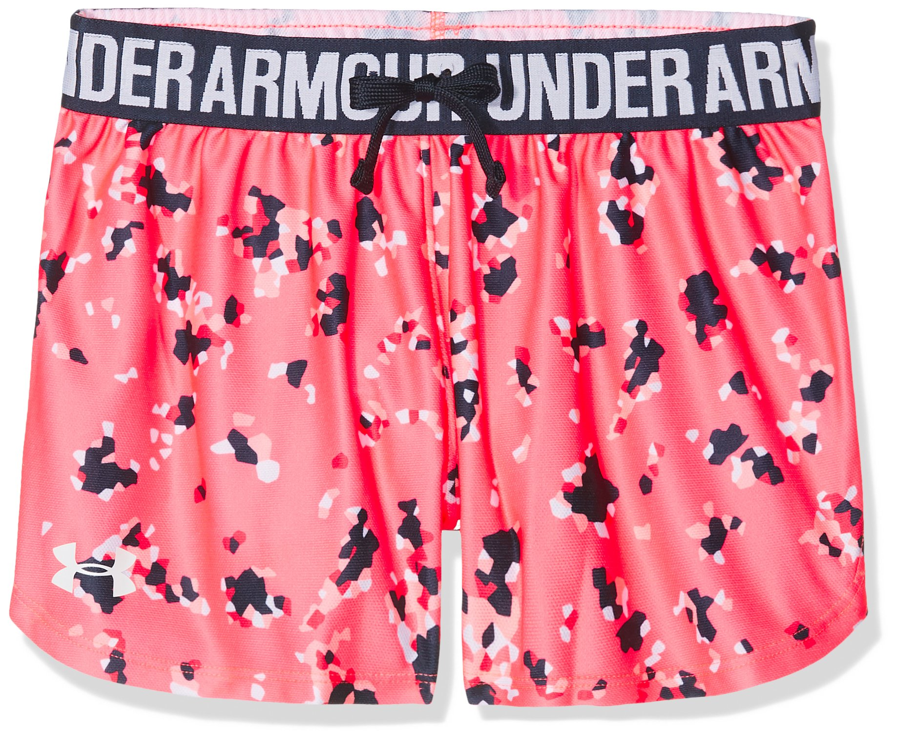 Under Armour Girls Play Up Printed Shorts, Brilliance /White, Youth Small
