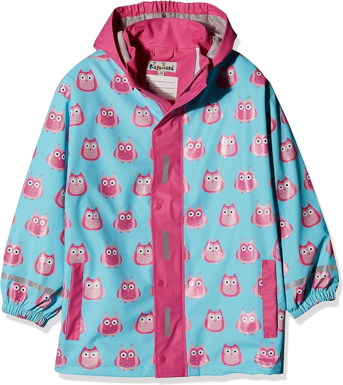 Playshoes M/ädchen Regen-mantel Eulen Eulen
