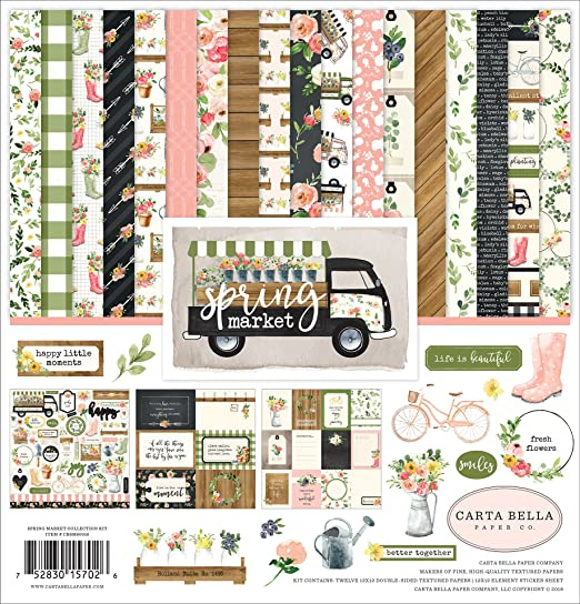 Set of 11 sheets 12.2/'/'x12.6/'/' #021 CARNIVAL Scrapbooking paper