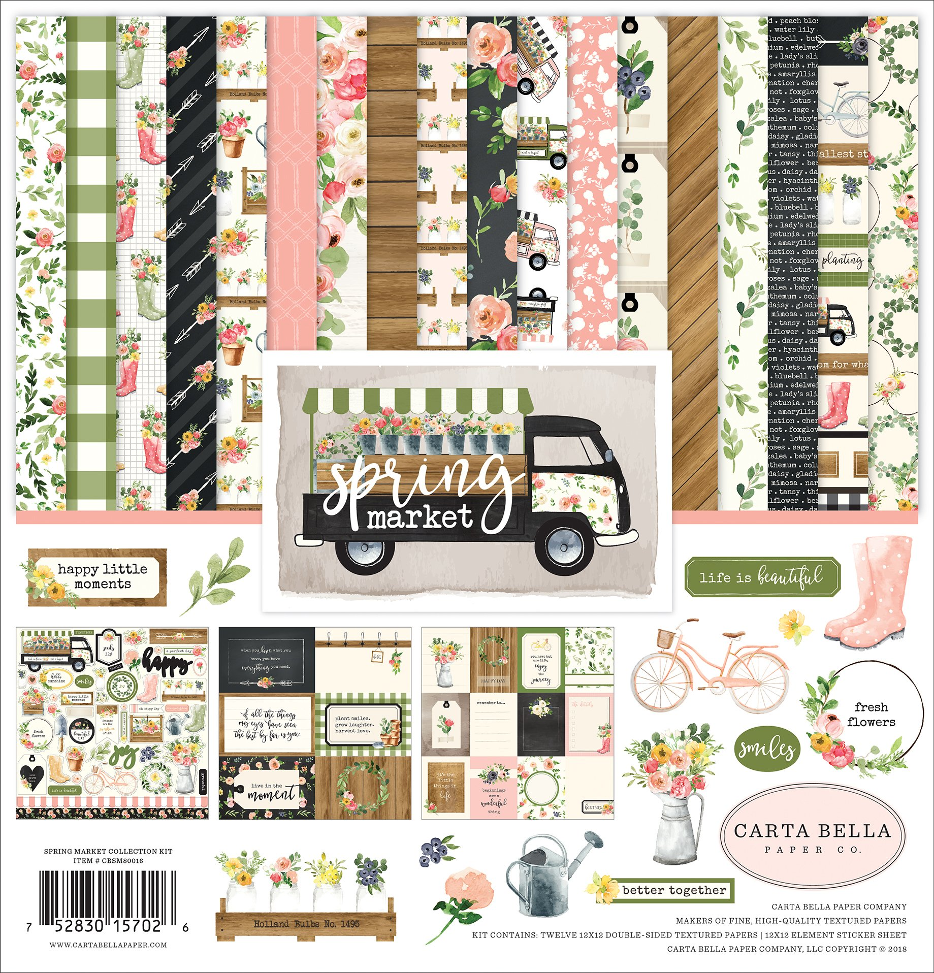 Carta Bella Paper Company Spring Market Collection Kit