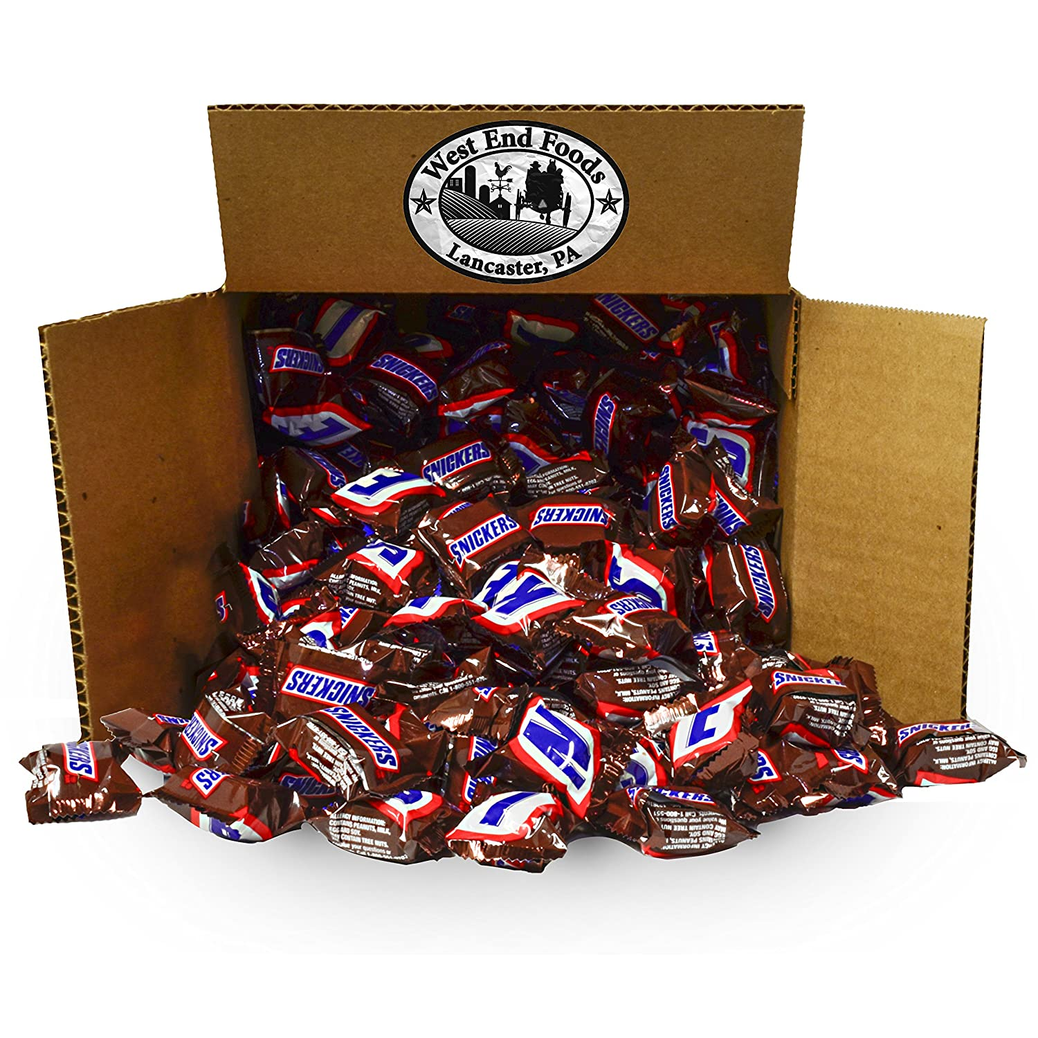 Snickers Classic Chocolate Candy Bars (5 lbs) Bulk Minis, Snacks for Party, Buffet, Pinata, Easter Baskets, Halloween, Valentine Day Gift