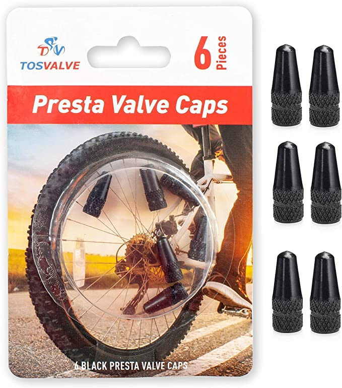 TC4 Titanium Alloy Mountain Road Bike Nozzle Valve Cap 2 Pcs Bike Tire Nozzle Valve Cap Keenso Bike Valve Cap