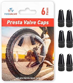 PRESTA ROAD MTB BIKE BICYCLE INNER TUBE ALLOY DUST COVER VALVE CAPS Pair